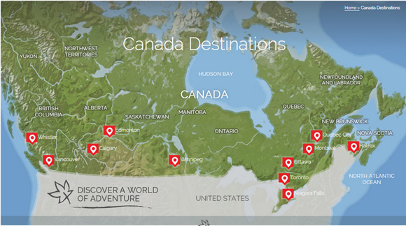 Canadian Affair map